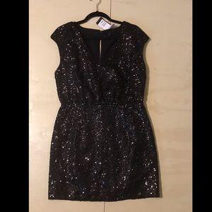 Glitter sequin black dress